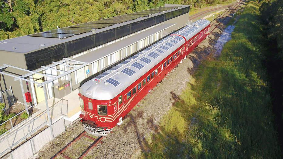 Primer tren de energía solar del mundo