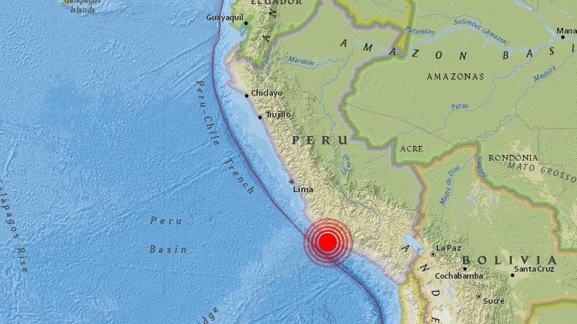 videos del sismo en Peru