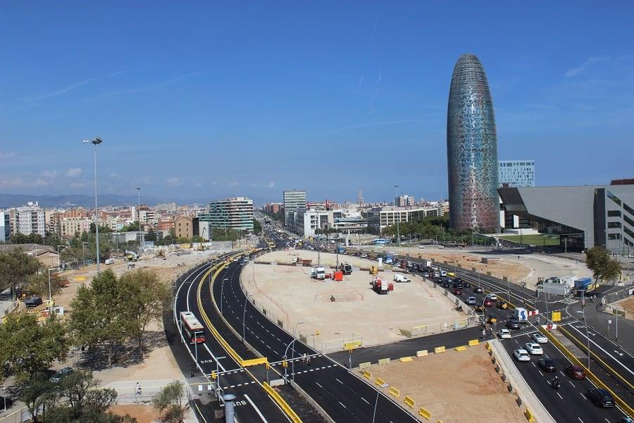Plaza de les Glories. FCC Construcción construirá los túneles viarios de la Plaza de les Glories