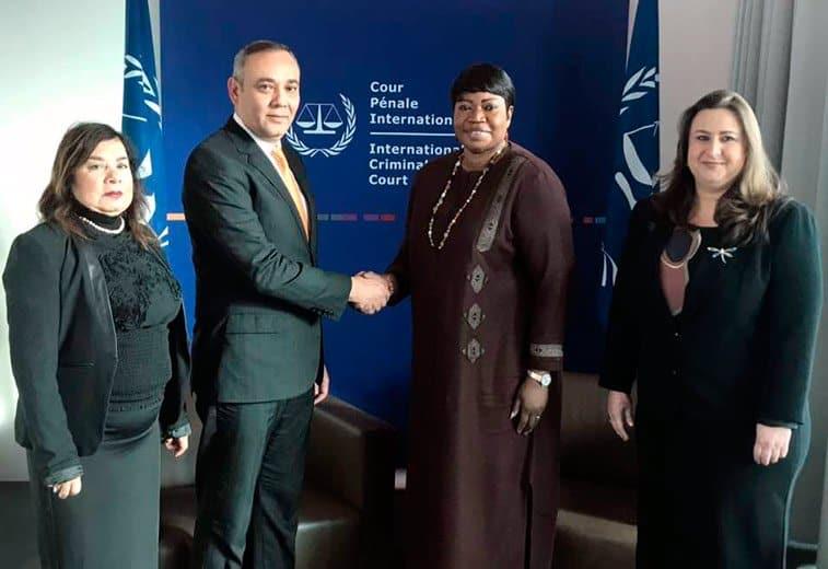 Reunión de la Corte Penal Internacional con Presidente del Tribunal Supremo de Justicia de la República Bolivariana de Venezuela.