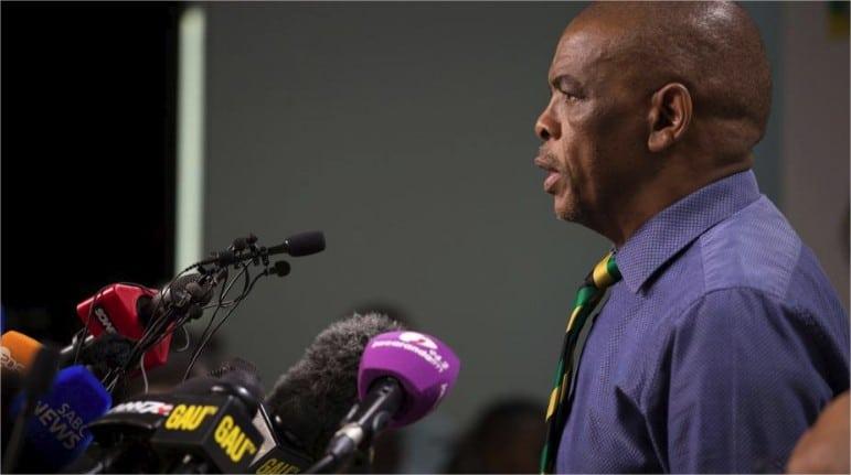 El presidente de la ANC, Gwede Mantashe. (Reuters)