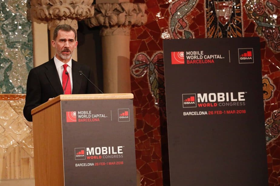 Discurso del Rey Felipe VI en el Mobile World Congress 2018