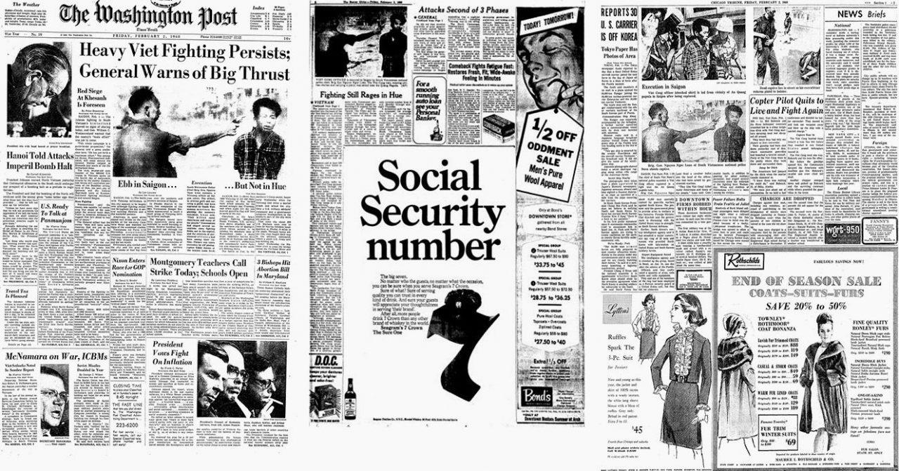 La foto de Adams parecía impresa el 2 de febrero de 1968, en tres importantes periódicos estadounidenses: The Washington Post, Boston Globe y Chicago Tribune