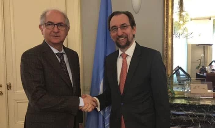 Injerencia humanitaria en Venezuela pidió Ledezma en la ONU