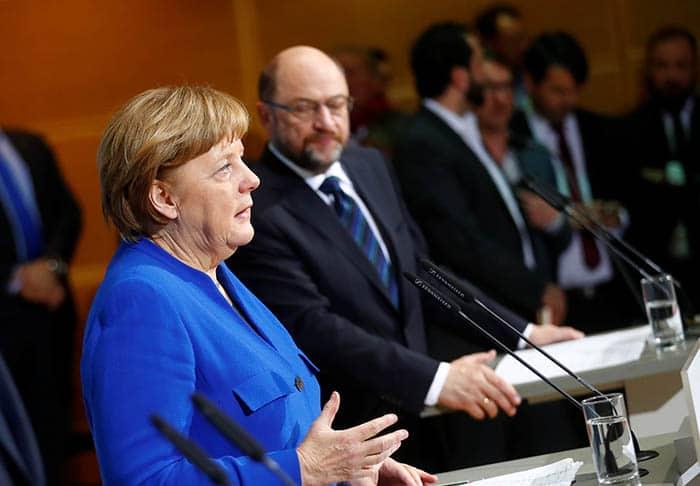 Merkel y Schulz reeditan la gran coalición.