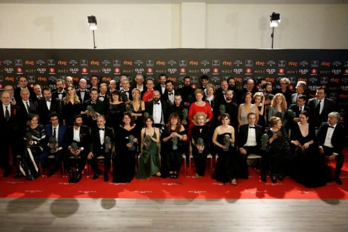 Resultado de imagen de ganadores de los goya 2018