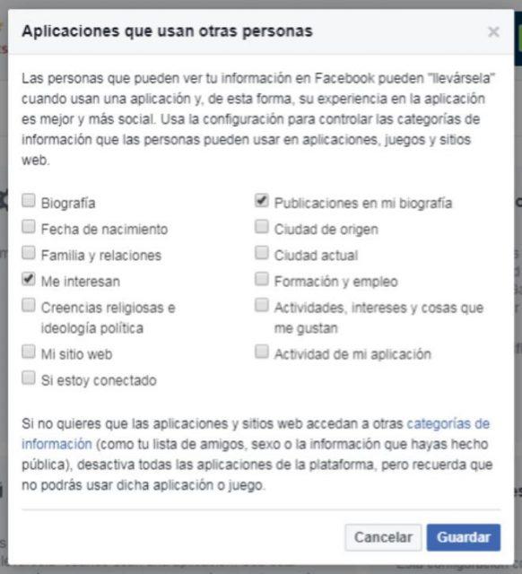 aplicaciones de Facebook