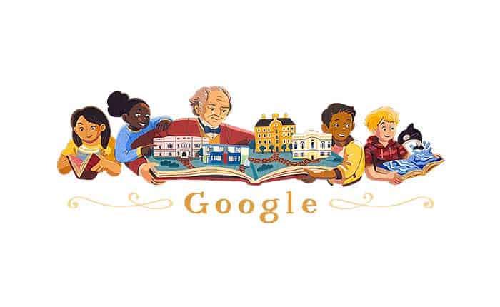 El Google Doodle de George Peabody, padre de la filantropía moderna