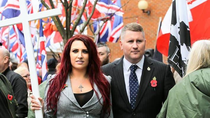 Los dos líderes del partido, Paul Golding y Jayda Fransen