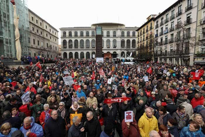 manifestación de los pensionistas