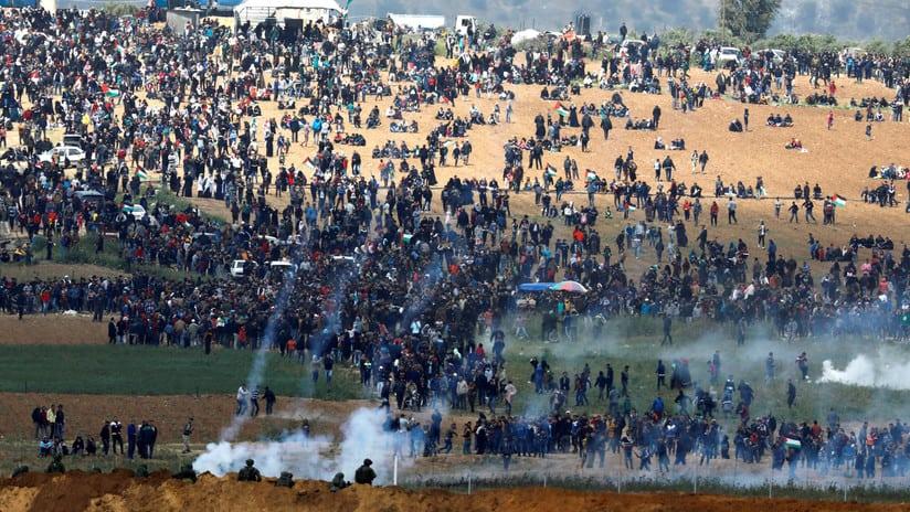 Protesta en Gaza: Al menos 7 palestinos muertos y 500 heridos