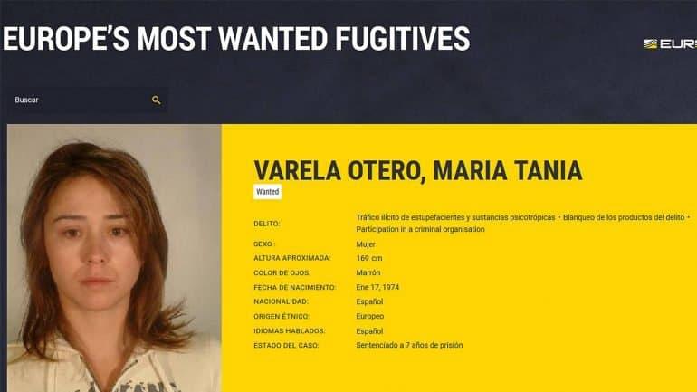 Capturada Tania Varela: la mujer más buscada por Europol
