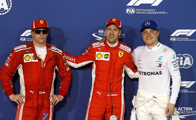 Vettel partirá de primero en el Gran Premio de Bahréin