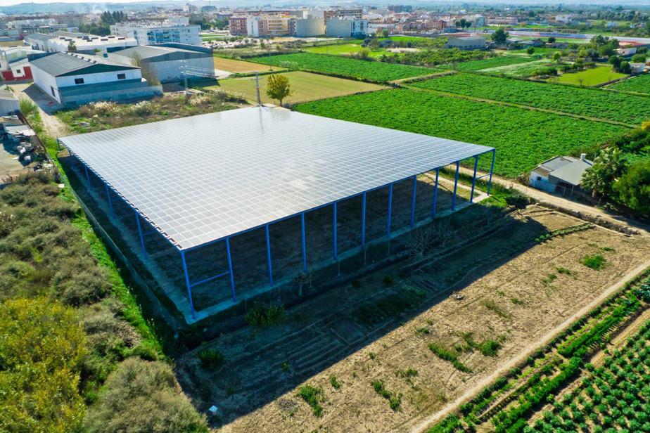 Cubierta fotovoltaica en Alicante
