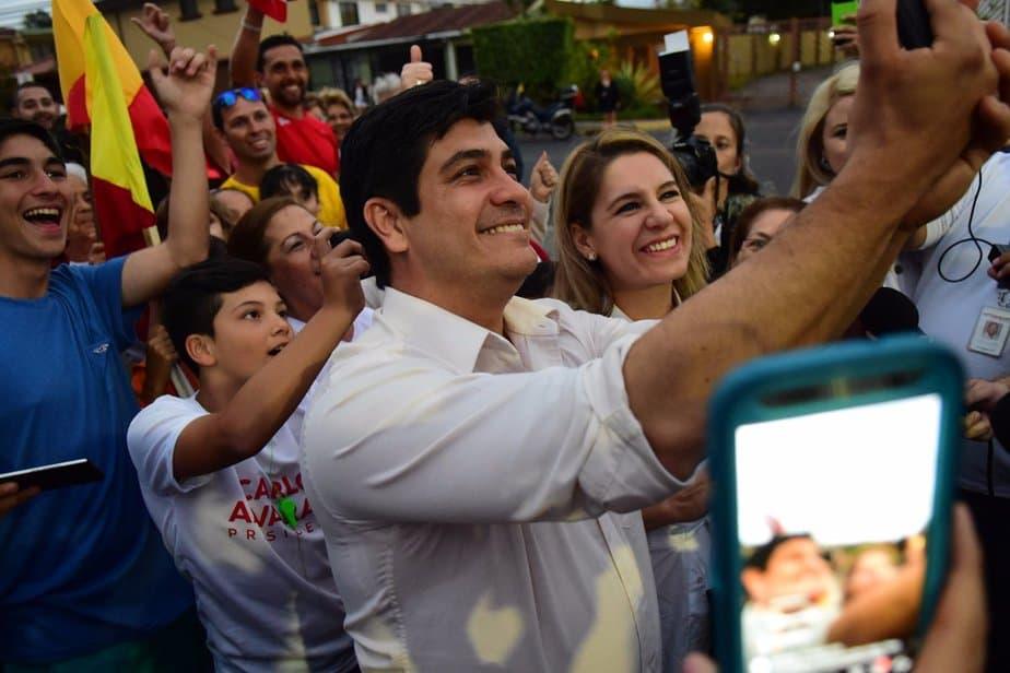 Carlos Alvarado lidera las elecciones costa rica 2018