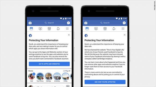 usuarios afectados en Facebook