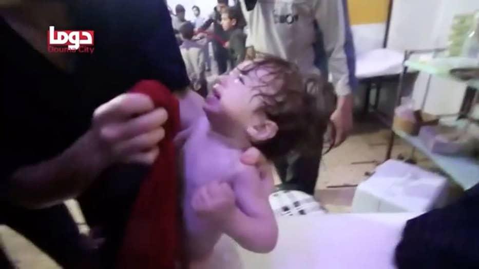 Imágenes del ataque quimico en Siria