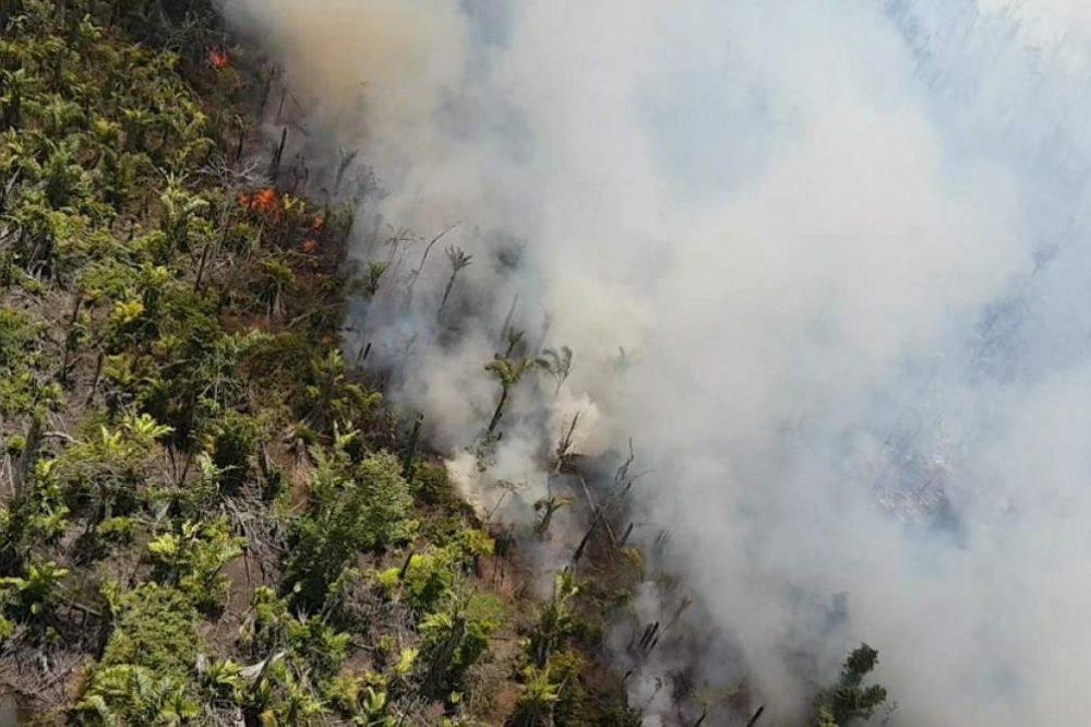 incendio en Indio Maíz