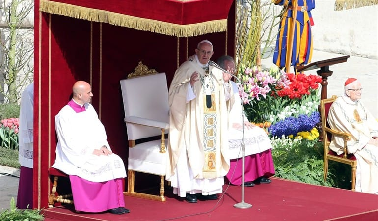Mensaje de Pascua del Papa Francisco