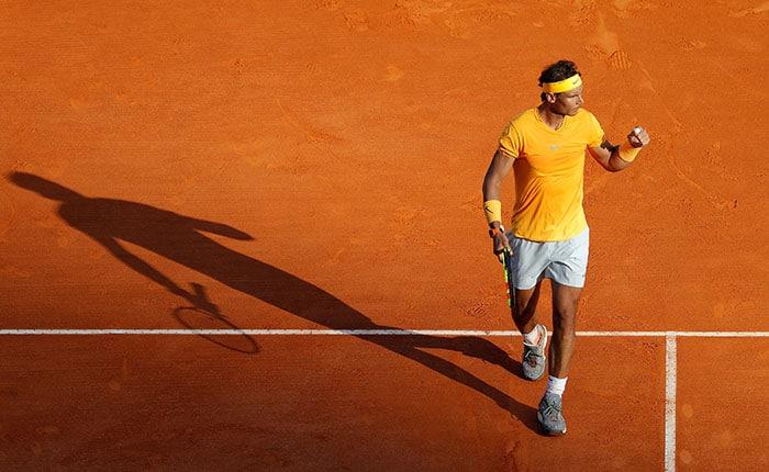 Tennis - ATP - Monte Carlo Masters - Monte-Carlo Country Club, Monte Carlo, Monaco - April 19, 2018   Spain's Rafael Nadal celebrates winning his third round match against Russia's Karen Khachanov   REUTERS/Eric Gaillard