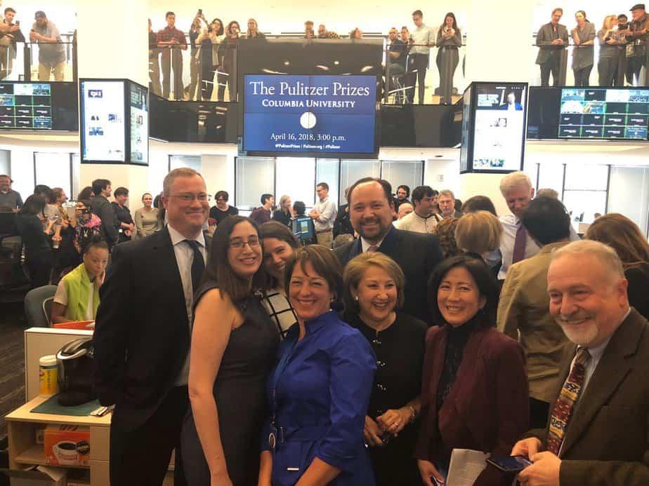 Ganadores del premio Pulitzer 2018 de periodismo