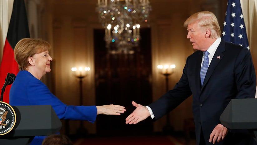 La reunión Merkel Trump: Consensos sobre Siria e Irán, divergencias en la economía