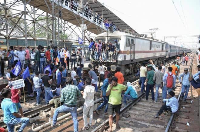 tren indio sin control