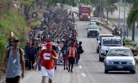 El Viacrucis Migrante en Tapachula, México, el 25 de marzo de 2018. (Reuters / José Torres)