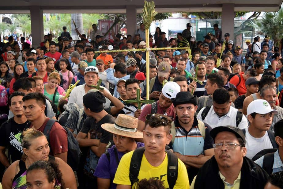 Participando en una misa el 25 de marzo de 2018. (Reuters / José Torres)