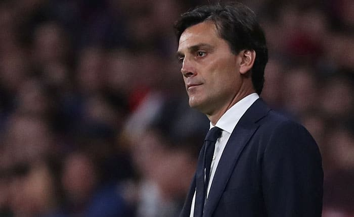 Soccer Football - Spanish King's Cup Final - FC Barcelona v Sevilla - Wanda Metropolitano, Madrid, Spain - April 21, 2018   Sevilla coach Vincenzo Montella   REUTERS/Susana Vera
