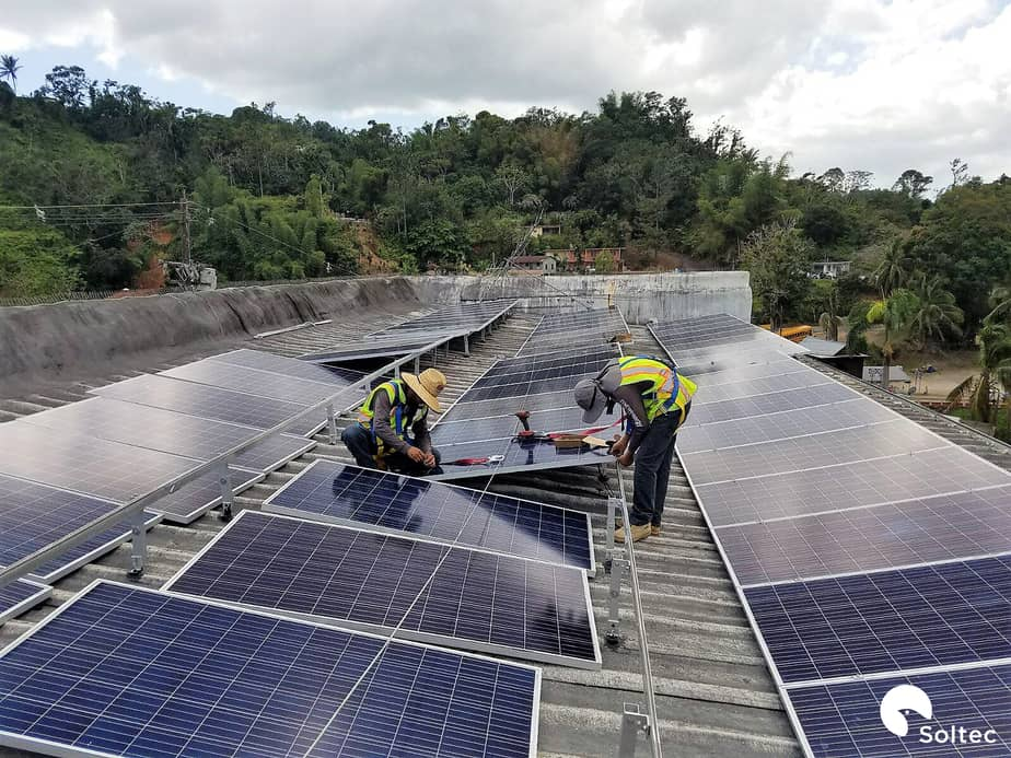 Equipamiento solar de Soltec