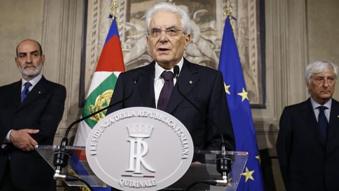 Crisis política en Italia: Sergio Matarella, presidente de Italia