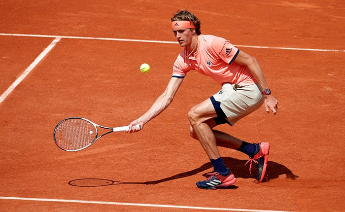 Tennis - French Open - Roland Garros, Paris, France - May 30, 2018    Germany's Alexander Zverev during his second round match against Serbia's Dusan Lajovic   REUTERS/Charles Platiau