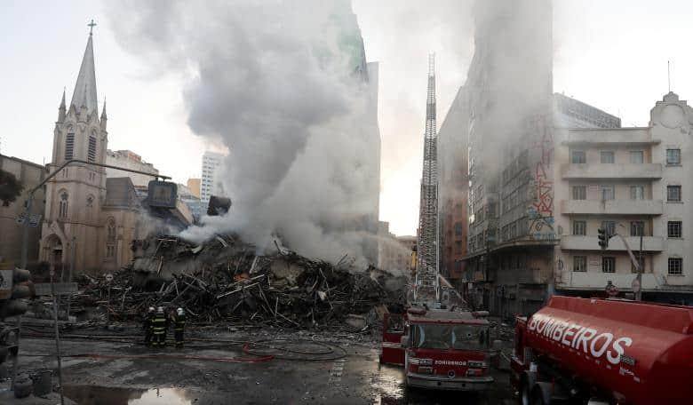 Luto en Brasil tras derrumbe de edificio en Sao Paulo