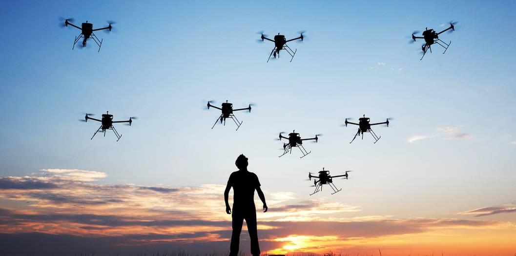 drones contra policías