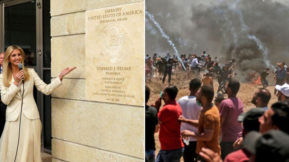 Más de 40 muertos: el costo de la embajada de EEUU en Jerusalén