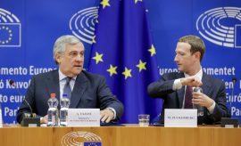 Zuckerberg en la Eurocámara