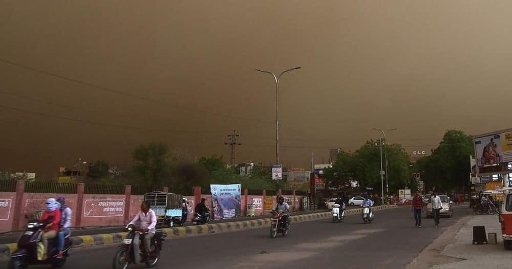 tormentas de polvo en India