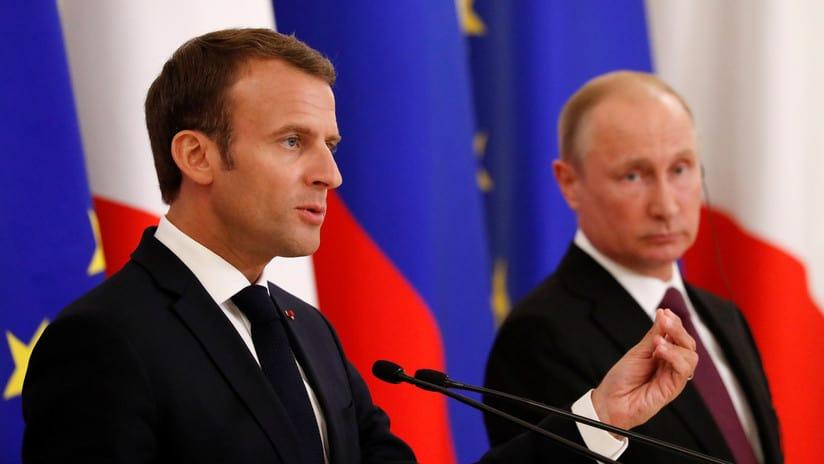 Emmanuel Macron yVladimir Putin confiaron en que elencuentro Trump-Kim se haga realidad