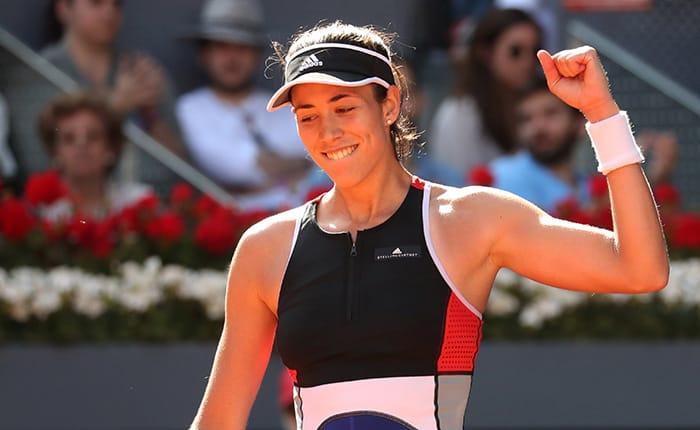 Tennis - WTA Mandatory - Madrid Open - Madrid, Spain - May 6, 2018   Spain's Garbine Muguruza celebrates winning her round of 64 match against China's Shuai Peng    REUTERS/Susana Vera