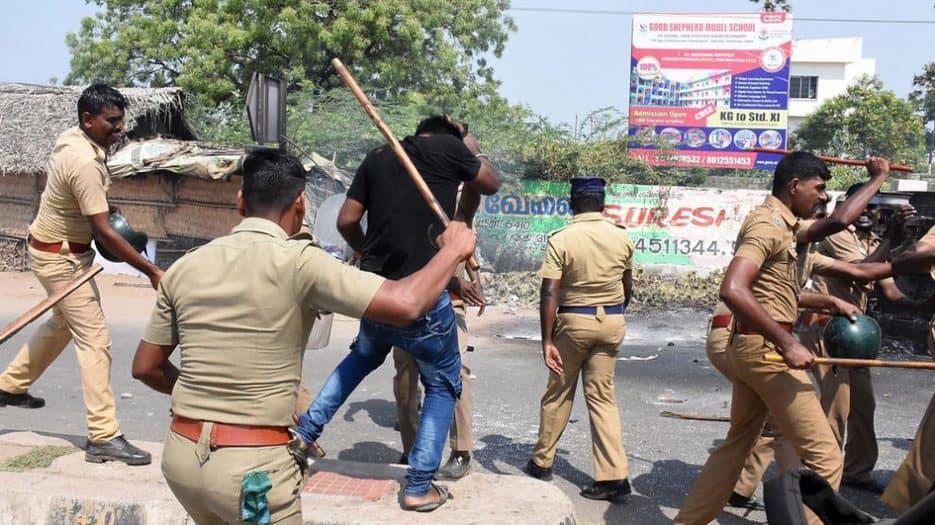 policía en el sur de India