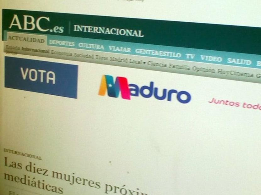 Publicidad de Maduro en Google: en el ABC