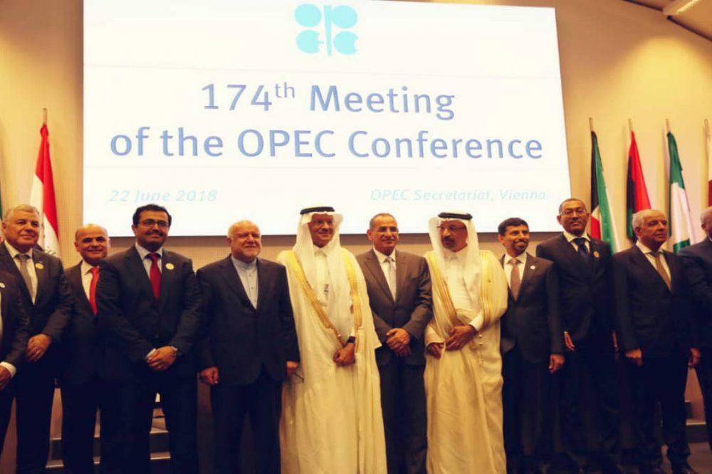 Conferencia Opep acuerda subir la producción de crudo en 1 millón bpd