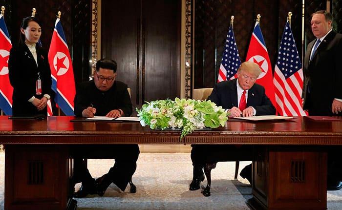 Qué dice el documento firmado por Donald Trump y Kim Jong Un
