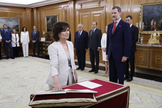 Nuevos ministros: Carmen Calvo