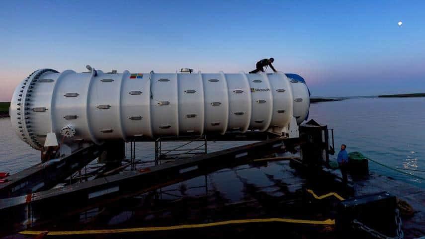 Microsoft ahorra energía debajo del agua