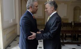 Duque y Santos comienzan el proceso de transición en Colombia