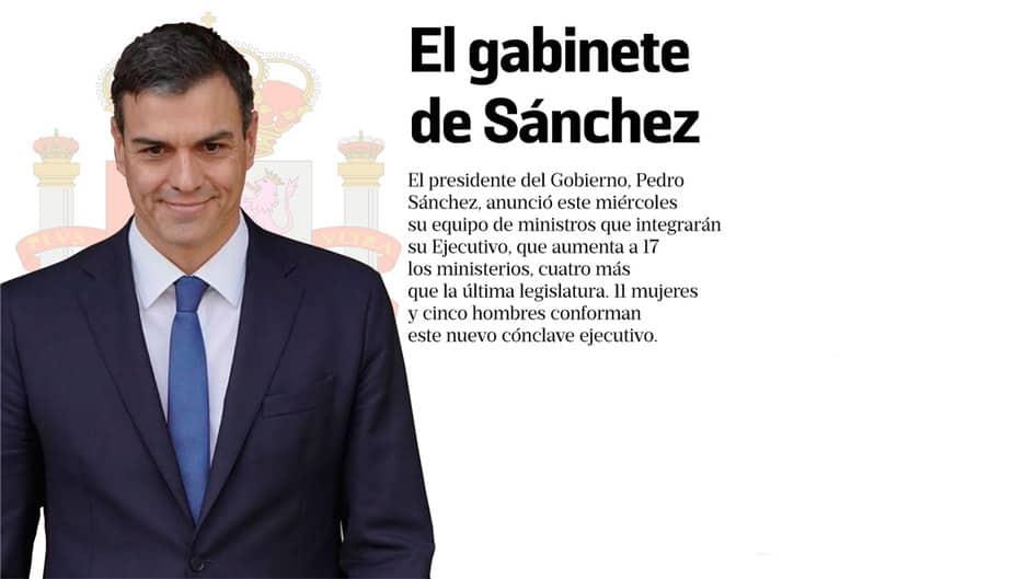 Infografía: Nuevos ministros de Pedro Sánchez