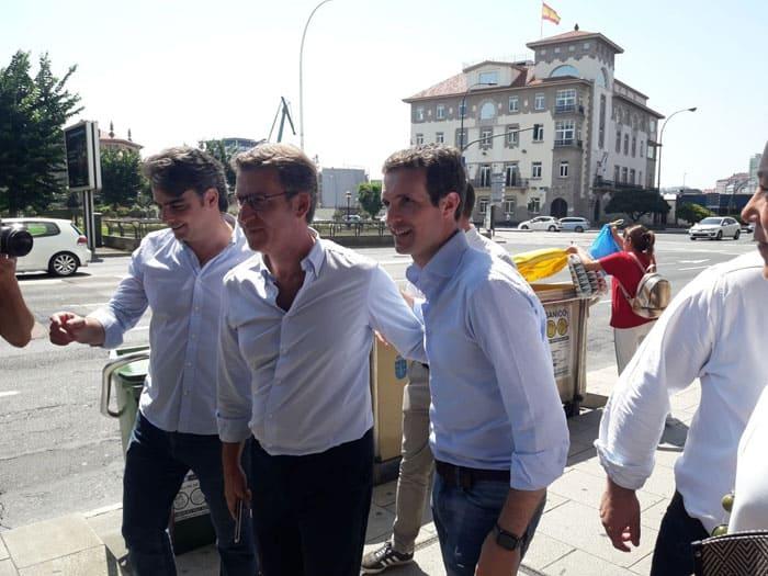 Pablo Casado comenzó su campaña en A Coruña