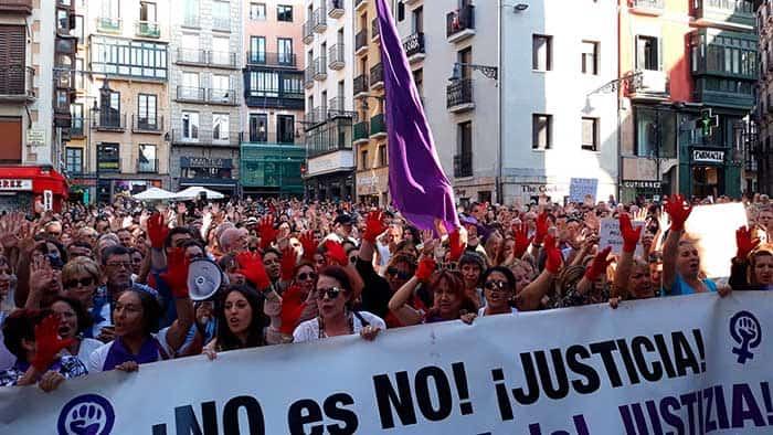 Protestas en Pamplona por la libertad de La Manada